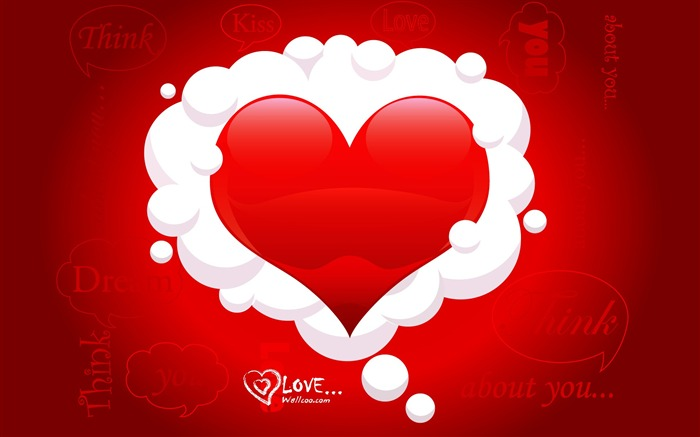 Red Heart - Valentines Day heart-shaped design wallpaper Views:26357