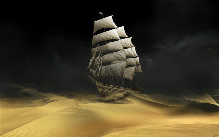 Sailing The Desert Wallpaper Views:39921