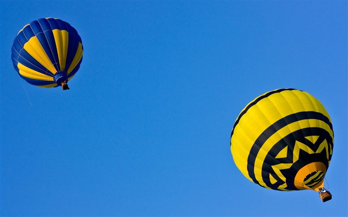 Sky diving - hot air balloons flying in the sky Views:3471
