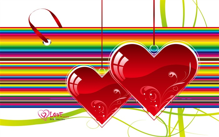 Soulmate - Valentines Day heart-shaped design wallpaper Views:5752