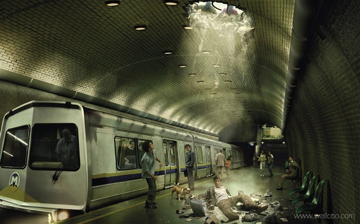 Subway accident-creative advertising design graphic images Views:8197