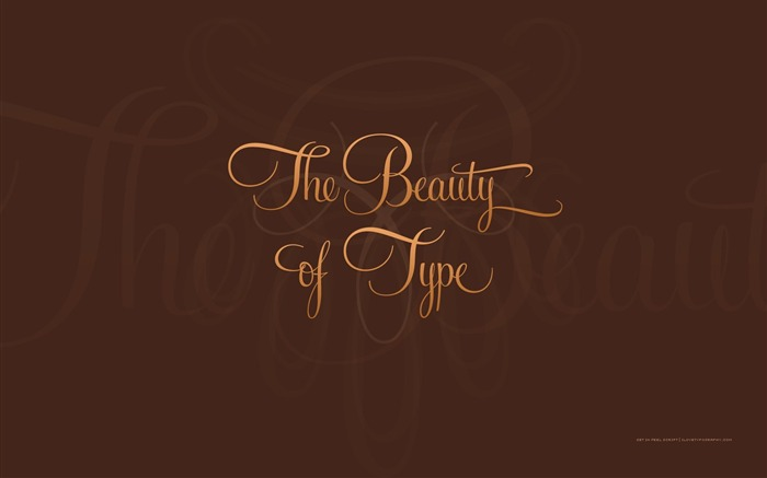 The Beauty of Type wallpaper Views:4059