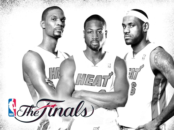 White Heat - Miami Heat 2010-11 season-NBA Finals Wallpaper Views:9600