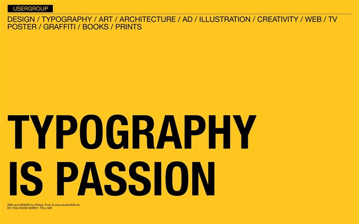 Typography is Passion wallpaper Views:5729