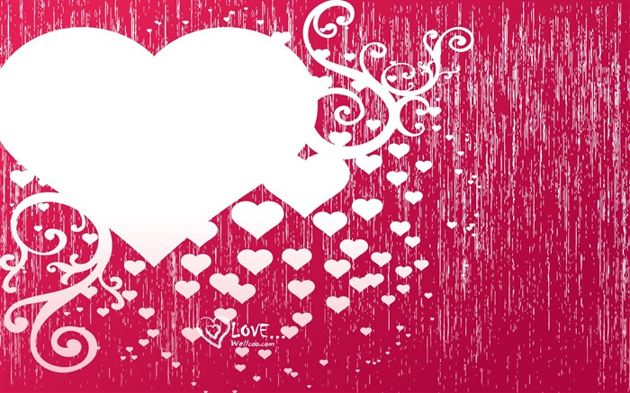 Valentines Day illustration - Valentines Day heart-shaped design wallpaper 01 Views:16474