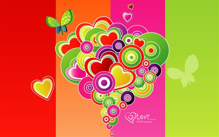 Valentines Day vector design wallpaper Views:23730