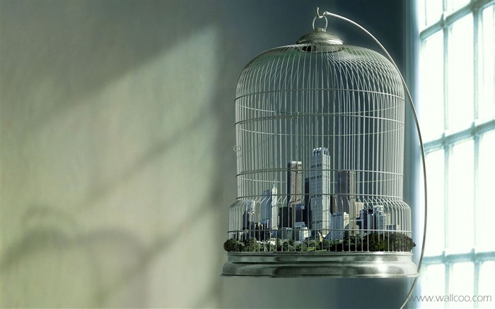 cities of the cage-the foreign plane Creative Advertising Wallpapers Views:8956