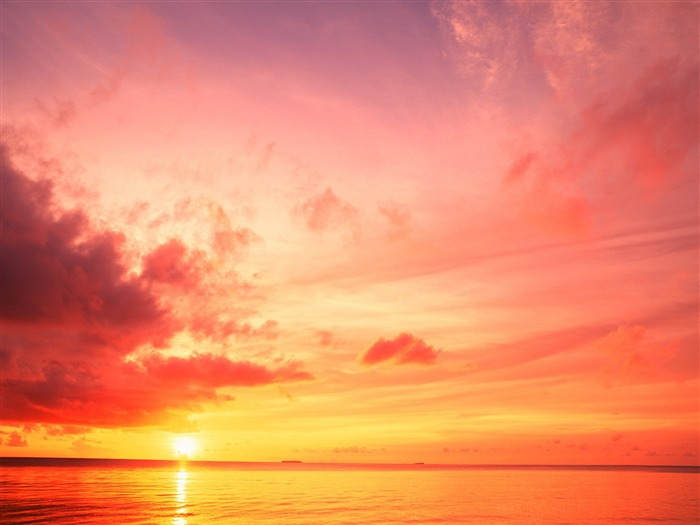 of the Maldives Red Sunset wallpaper Views:12548