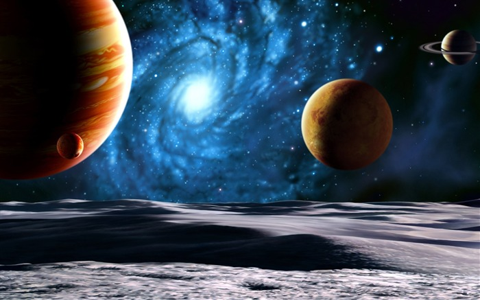 10 CG illustrator space planet universe-the universe stars planets picture Views:26715