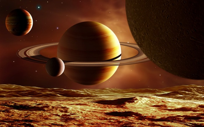 12 CG illustrator space planet universe-the universe stars planets picture Views:34322