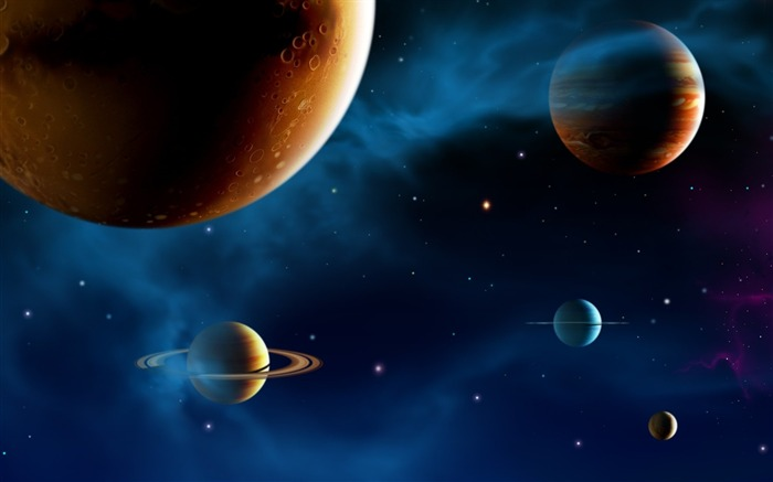 14 CG illustrator space planet universe-the universe stars planets picture Views:58123
