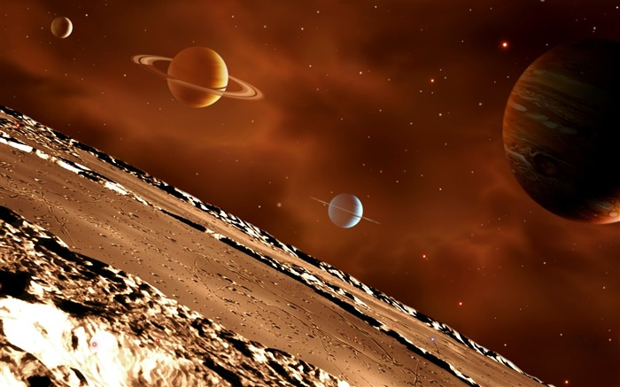 18 CG illustrator space planet universe-the universe stars planets picture Views:10172