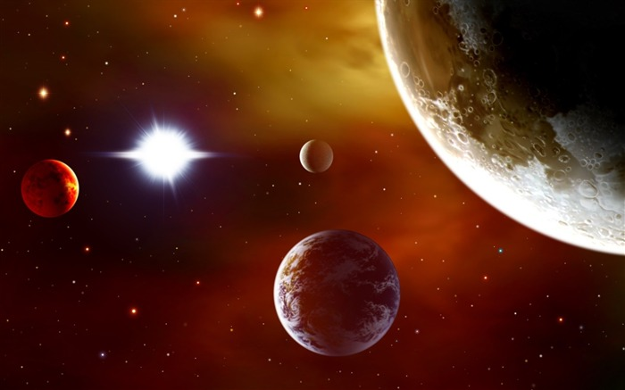 28 CG illustrator space universe planet-Earth-Space-Planet Pictures Views:17178