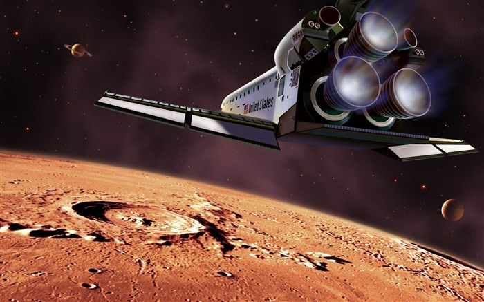 29 CG illustrator space universe planet-the moon space shuttle pictures Views:7069