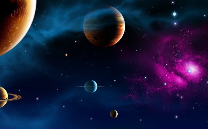 37 CG illustrator space planet universe-space-planet picture Views:22235