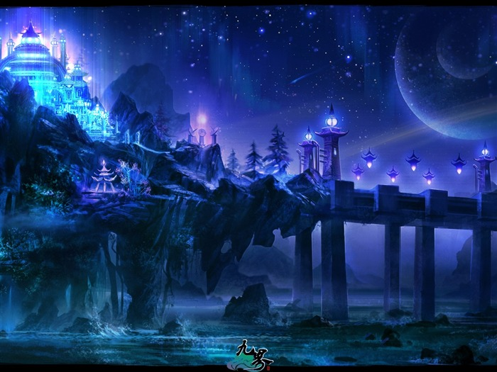 3D fantasy masterpiece-Nine world-the official game wallpaper Views:34537