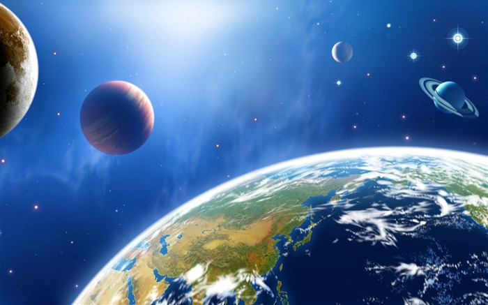 43 CG illustrator space universe planet-Earth-Space-Planet Pictures Views:53048