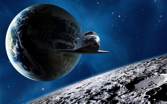 6 CG illustrator universe planet-Earth space shuttle pictures Views:31271