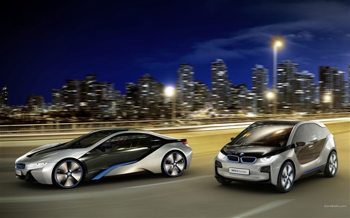 BMW i3-i8 brand concept car HD wallpaper Views:20380