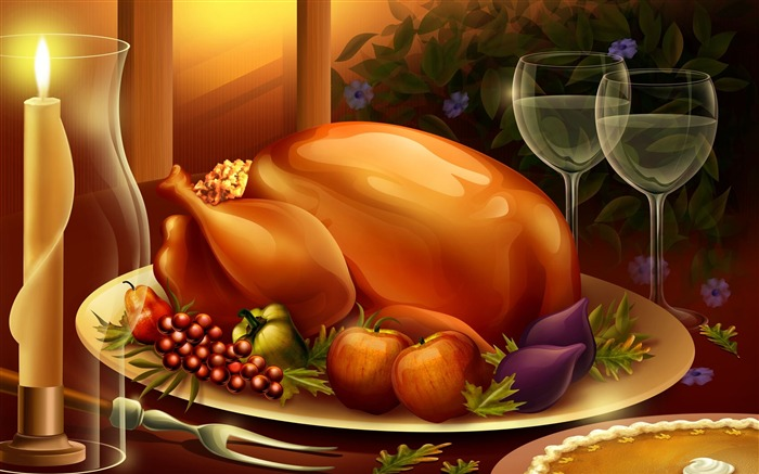 Thanksgiving illustration design wallpaper Views:16414