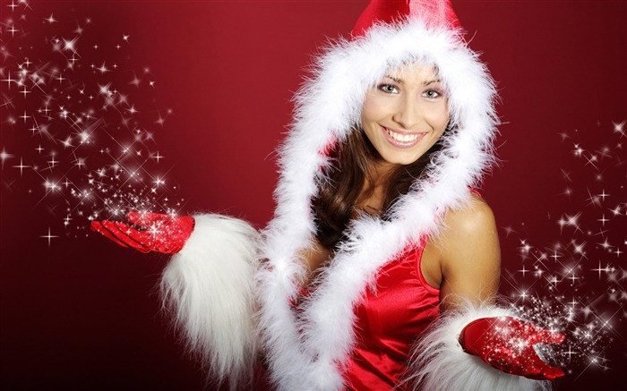 Christmas beauty - European Christmas beauty model HD wallpaper Views:27272