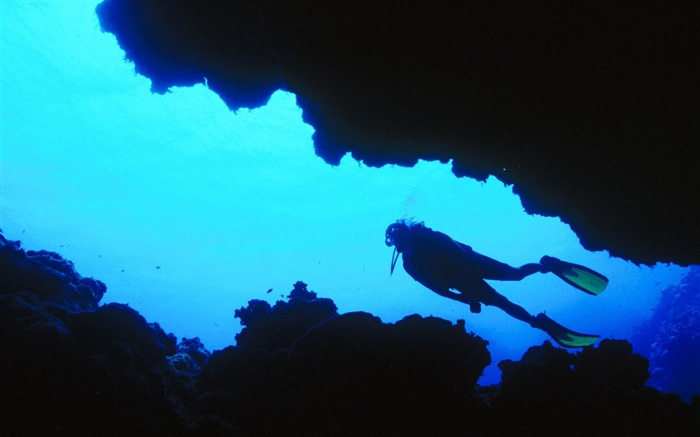 Fiji-diving to explore sea caves wallpaper Views:37144 Date:8/31/2011 4:56:21 AM