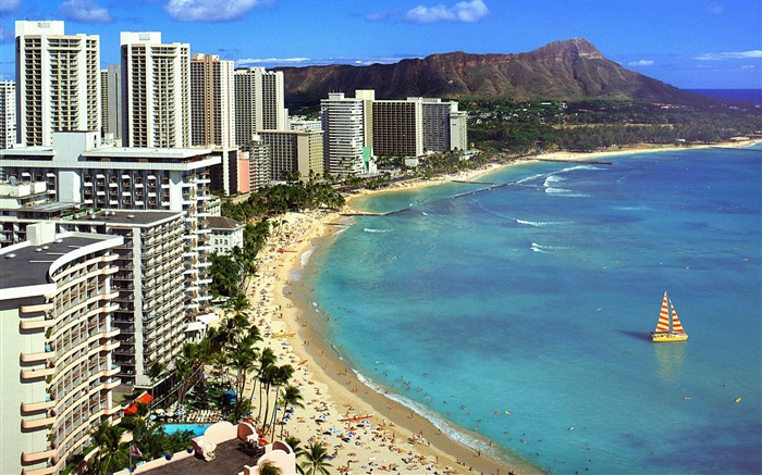 Hawaii-Diamond Head and Waikiki Beach Wallpaper Views:34180 Date:8/31/2011 5:17:40 AM