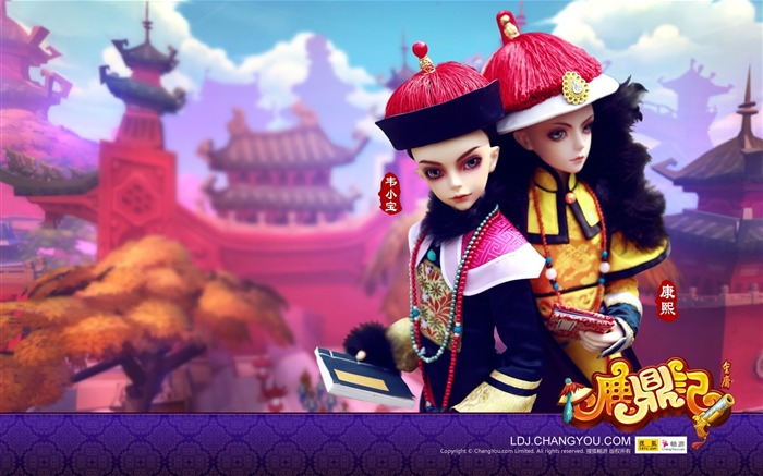 Kangxi and Wei Xiaobao BJD doll wallpaper Views:3239