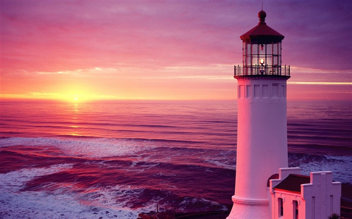The world fourteen individual charm of the historic lighthouse wallpaper Views:16965