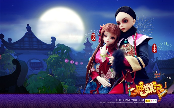 Wei Xiaobao and Shuanger BJD doll wallpaper Views:3425