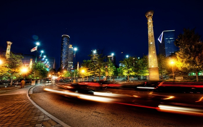 Atlanta Park Nights-Traveled the world Photography Wallpaper Views:6614 Date:9/27/2011 10:05:51 AM