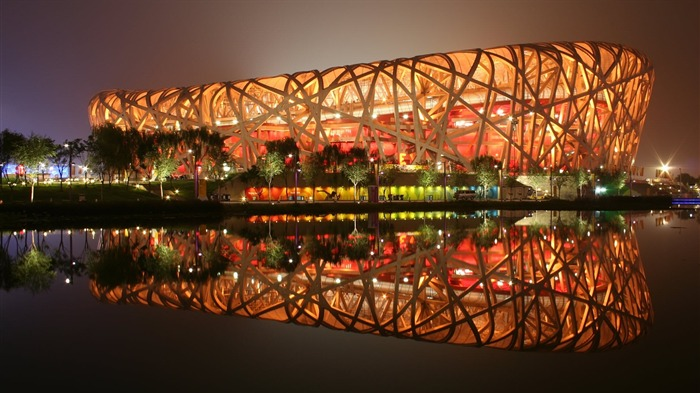 Bird s Nest Stadium Beijing China-Traveled the world Photography Wallpaper Views:13348 Date:9/27/2011 10:07:16 AM