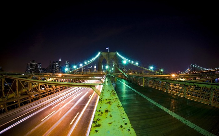 Brooklyn Bridge Nights-Traveled the world Photography Wallpaper Views:6945 Date:9/27/2011 10:08:55 AM