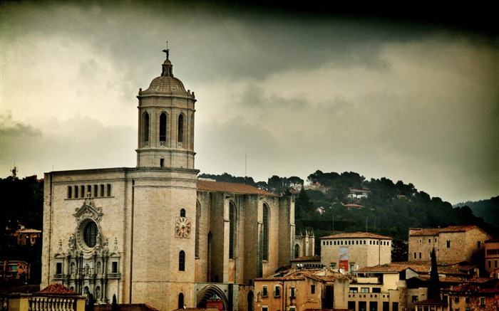Cathedral-Spain Girona city landscape Views:6810