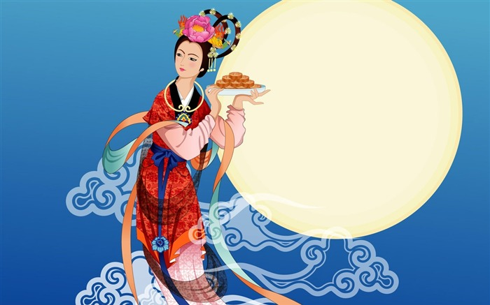 Chang-e flies to the moon- Mid-Autumn Festival special edition wallpaper 03 Views:3560
