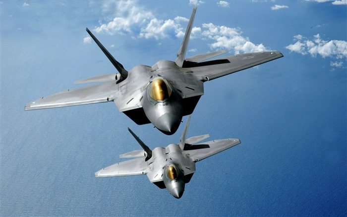 F-22 Raptors Over the Pacific-military aircraft Views:6510
