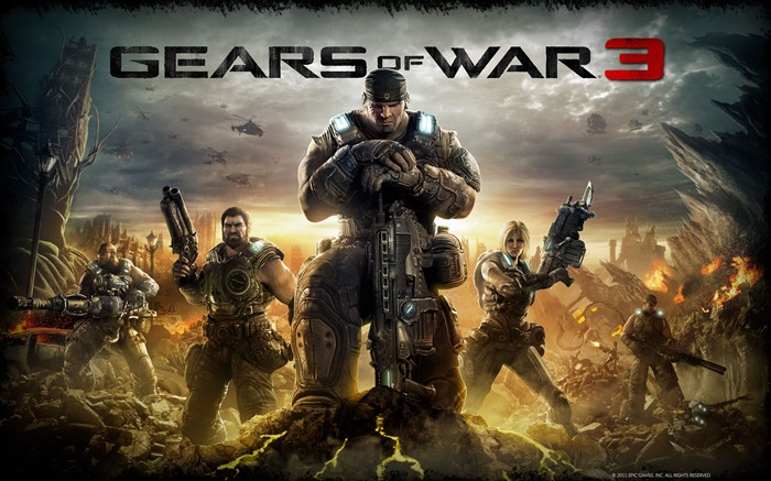 Gears of War 3 official game wallpaper Views:12419