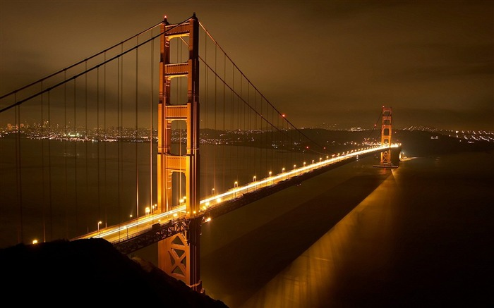 Golden Gate Bridge Nights-Traveled the world Photography Wallpaper Views:8729 Date:9/27/2011 10:11:33 AM
