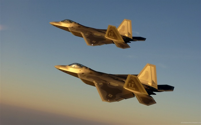Golden Jet Fighter Planes- military aircraft - HD Wallpaper Views:9158