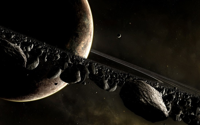 HD Space Art-Planet and the ring orbits Views:30740 Date:9/15/2011 6:06:25 AM