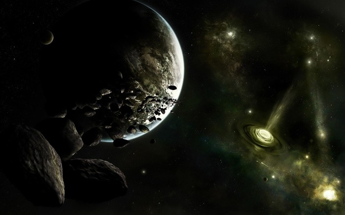 HD Space Art-planet- flares- asteroid- cosmos- Spacescapes Views:9192 Date:9/15/2011 6:15:19 AM