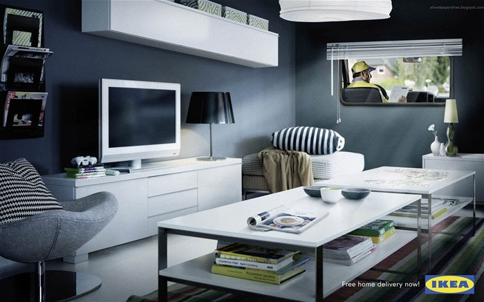 IKEA living room car-Amazing advertising creative wallpaper Views:19033