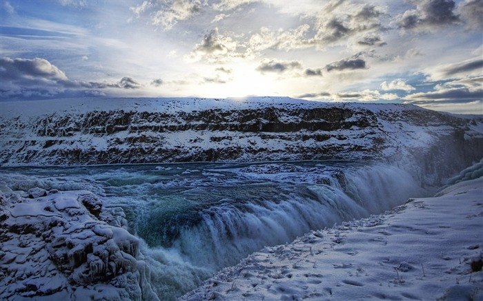 Iceland largest gold waterfall waterfall Views:5671