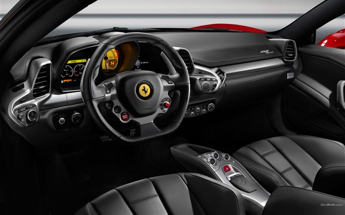 Interior space-Ferrari 458 Series Sports car wallpaper Views:30122 Date:9/9/2011 11:18:56 AM