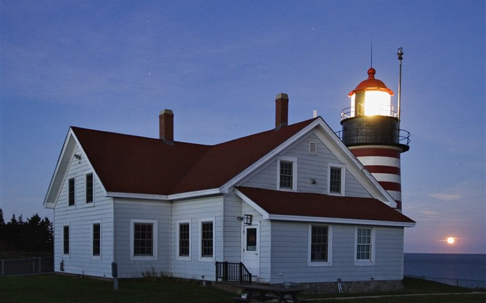 Maine - Western Guo Lighthouse wallpaper Views:4782