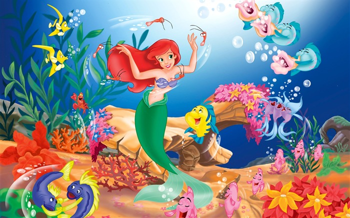 Mermaid Cartoon character - HD Desktop Wallpaper Views:41999