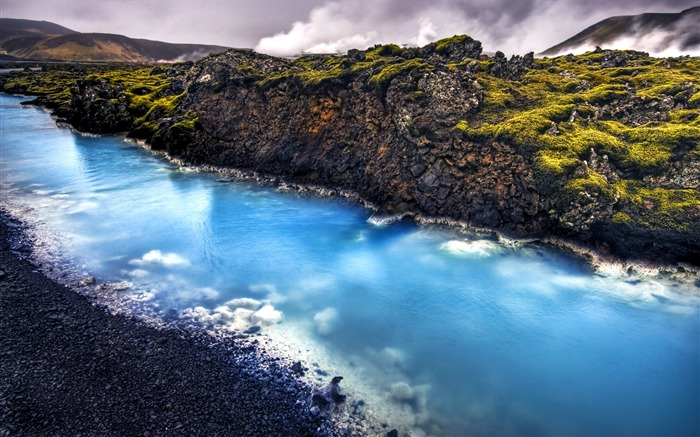 HDR Iceland landscape widescreen wallpaper Views:17861