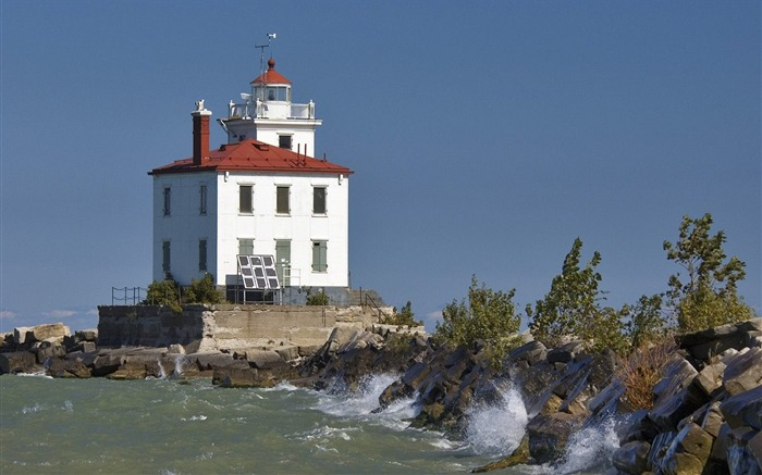 Ohio - Fairport Harbour West Breakwater Lighthouse wallpaper Views:2869