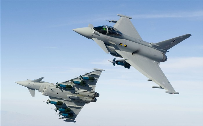 RAF No 11 Squadron Typhoon- military aircraft - HD Wallpaper Views:9141