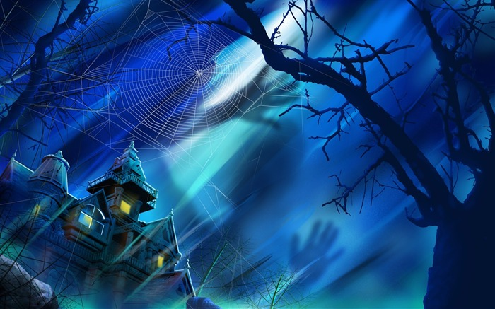 Scary castle-Halloween Illustration Design Wallpaper Views:14620